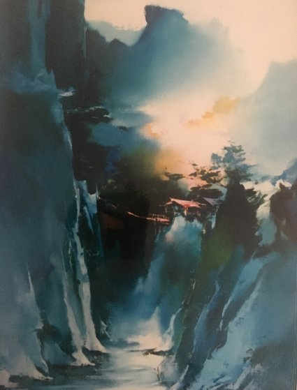 Mountains Living 1987 Original Painting by Hong Leung