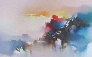 Voyage of the Dawn 1990 32x42 Original Painting - Hong Leung