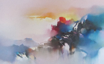 Voyage of the Dawn 1990 32x42 Original Painting by Hong Leung