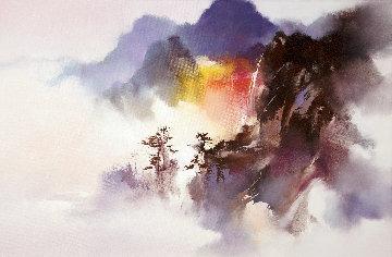 Falls Above the Clouds 2016 20x30 Huge Original Painting - Hong Leung