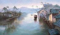 Moment 2017  35x60  Original Painting by Hong Leung - 0