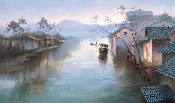 Moment 2017  35x60 Huge Original Painting - Hong Leung