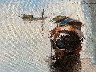 Moment 2017  35x60  Original Painting by Hong Leung - 3