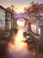 Watertowns Morning 2018 35x23 Original Painting by Hong Leung - 0