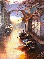 Watertowns Morning 2018 35x23 Original Painting by Hong Leung - 1