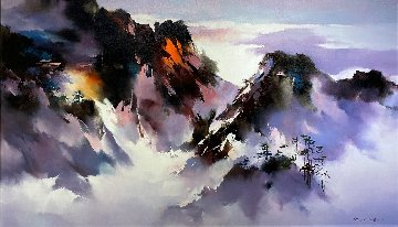 Highlands 2017 35x60 Original Painting - Hong Leung