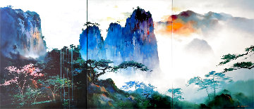 Summit View 2000  Huge Triptych 40x90 Limited Edition Print - Hong Leung