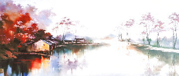 Blossom Village 2009 Huge  56x31 Limited Edition Print - Hong Leung