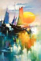 Reflection of Sail  2018 35x23 Original Painting by Hong Leung - 0