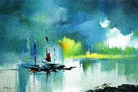 Summer Riverside 2013 35x23 Original Painting by Hong Leung - 0