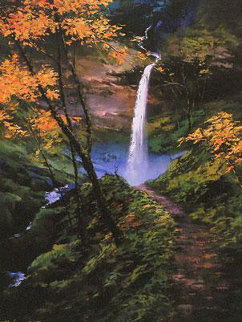 Secret Falls 2009 Embellished Limited Edition Print by Hong Leung