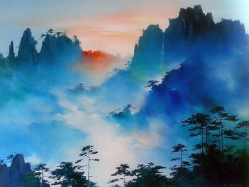 Mountain Senata 2001 44x57 Original Painting - Hong Leung