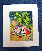 Calico Cat 2001 Limited Edition Print by Michael Leu - 1