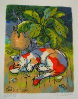 Calico Cat 2001 Limited Edition Print by Michael Leu - 2