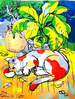 Calico Cat 2001 Limited Edition Print - Michael Leu