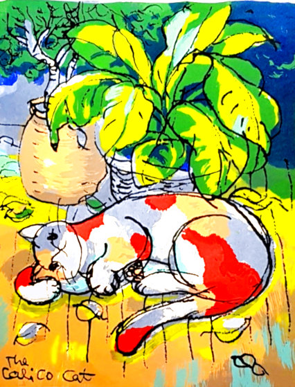 Calico Cat 2001 Limited Edition Print by Michael Leu