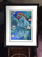 Moonlit Beach 1997 Limited Edition Print by Michael Leu - 1