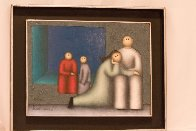Mourning 1982 16x20 Original Painting by Jesus Leuus - 1