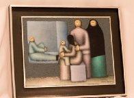 Grouping 1982 12x16 Original Painting by Jesus Leuus - 1