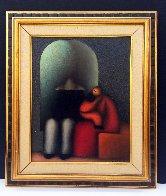 La Familia 2009 27x23 Original Painting by Jesus Leuus - 1