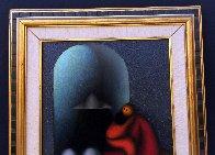 La Familia 2009 27x23 Original Painting by Jesus Leuus - 6