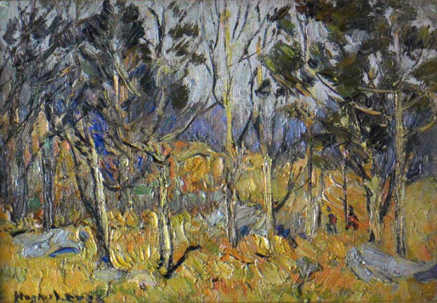Autumn Landscape 1905 13x16 Original Painting by Hayley Lever