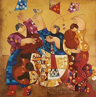 Festival 1995 60x48 Original Painting - Dorit Levi