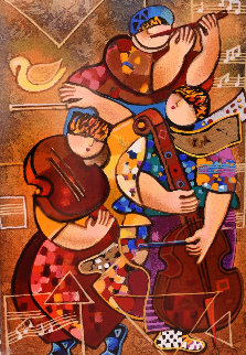 Gypsy's Song 2004 Embellished  Limited Edition Print by Dorit Levi