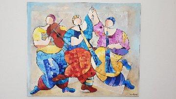 Untitled Music 39x47 Original Painting by Dorit Levi