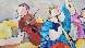 Untitled Music 39x47 Original Painting by Dorit Levi - 4