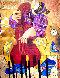 Street Singer 32x28 Original Painting by Dorit Levi - 0