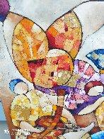 Untitled Painting 2000 43x43 Super Huge Original Painting by Dorit Levi - 1