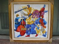Musical Fest 2003 40x40 Super Huge Original Painting by Dorit Levi - 1