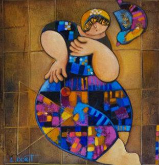 Delicate Balance 2009 20x16 Original Painting - Dorit Levi