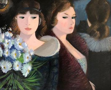 Promenade 20x24 Original Painting - Charles Levier