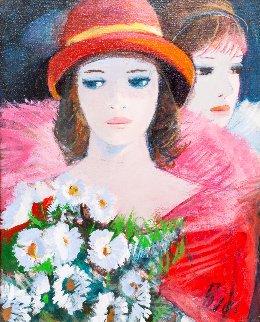 La Nuit 24x21 Original Painting - Charles Levier