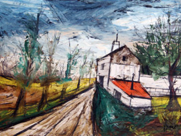 Farmhouse 34x41 Original Painting by Charles Levier