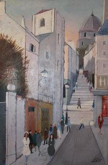 La Rue 45x33 Original Painting - Charles Levier