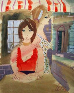 Two Women 24x18 Original Painting by Charles Levier
