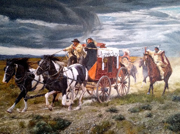 Gathering Storm 2000 48x72 Original Painting - Doug Levitt