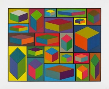 Distorted Cubes #2 2001 Limited Edition Print - Sol LeWitt