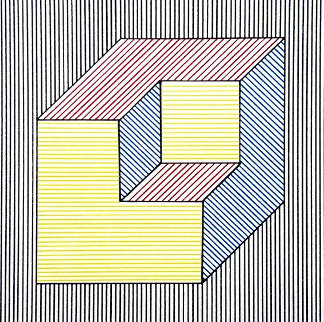 Twelve Forms Derived From a Cube - F1 PP 1984 Limited Edition Print - Sol LeWitt