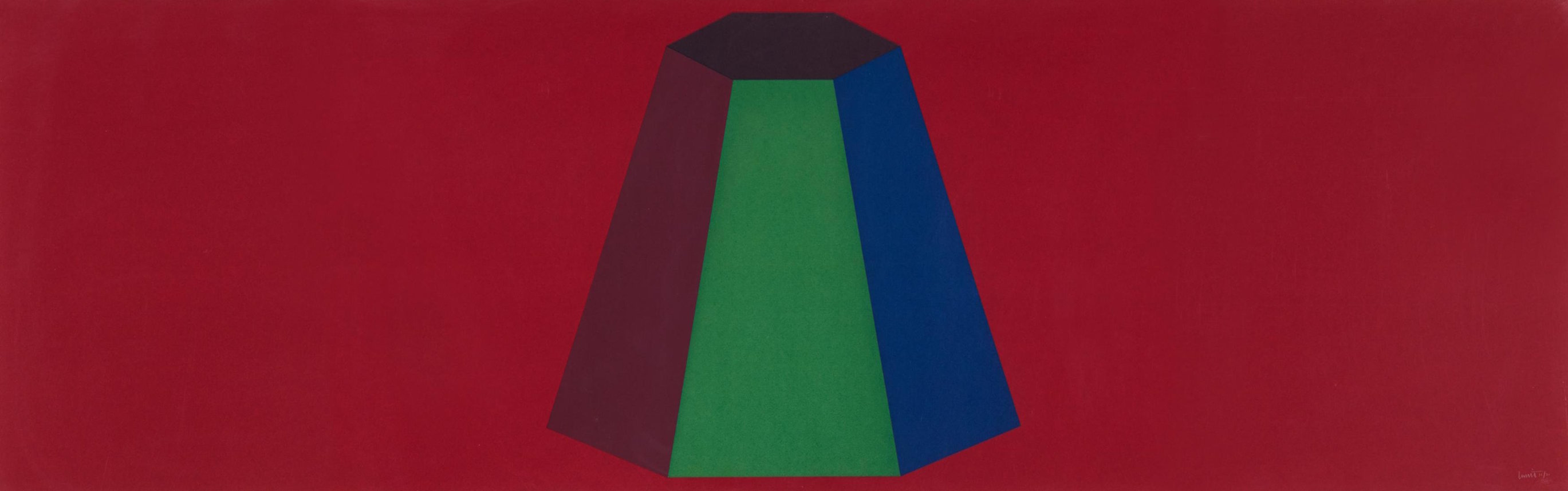 Flat Top Pyramid With Colors Superimposed 1988 Limited Edition Print by Sol LeWitt