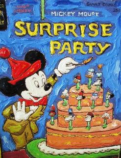 Birthday Mickey 2010 18 in Original Painting - Leslie Lew