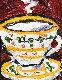 Rosette, Alzerin Cup 2009 20x17 Original Painting - Leslie Lew