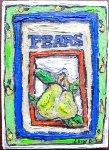 Pears #2 7x5 Original Painting - Leslie Lew