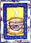 Wedgewood Cup #1 7x5 Original Painting - Leslie Lew