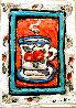 Peach Cup #3 7x5 Original Painting by Leslie Lew - 0
