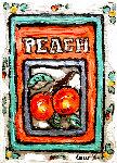 Peach # 3 7x5 Original Painting - Leslie Lew