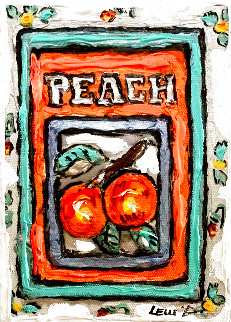 Peach # 3 7x5 Original Painting - Leslie Lew